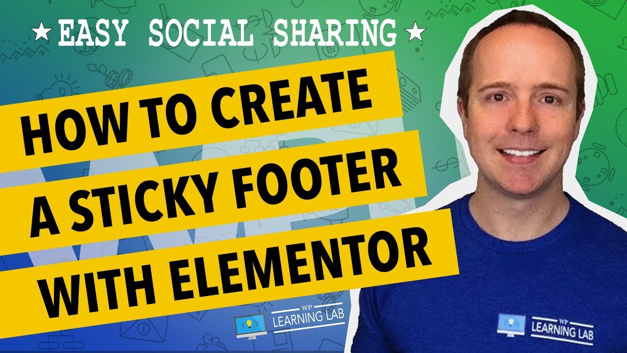 Sticky Social Media Buttons Footer In WordPress Using Elementor