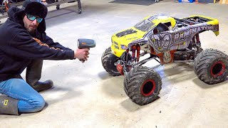 """HOW FAST IS my TMR 49cc GAS POWERED PRIMAL RC """"TOY"""" RAMINATOR  MONSTER TRUCK? 