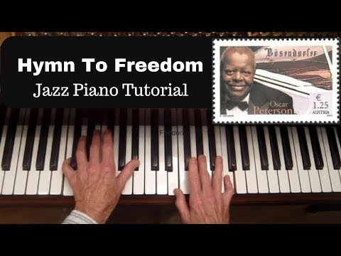 Oscar Peterson's Hymn to Freedom, Chord Progression and voicings analysis