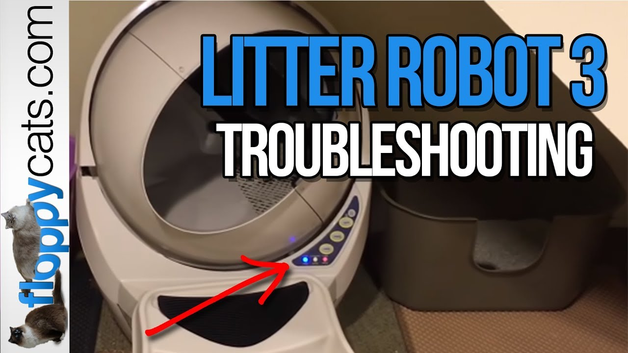 Litter Robot 3 Open Air Troubleshooting All 3 Lights Flashing Floppycats Youtube