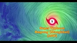 Weather Update- Bagyong Ompong (September 13, 2018) Super Typhoon Mangkhut