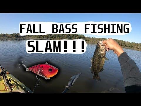 Kayak Bass Fishing @ Busse Woods , IL (FALL RATTLE TRAP BITE!!)