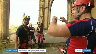 Interview des pompiers de la Moselle après l'incendie de la Cathédrale Notre-Dame de Paris
