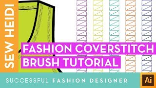 Fashion Coverstitch Pattern Brush in Adobe Illustrator