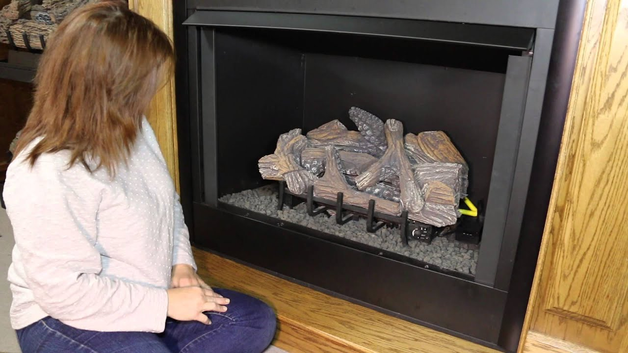 how to light your gas fireplace pilot youtube