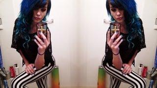 DIY Ombre hair (blue)