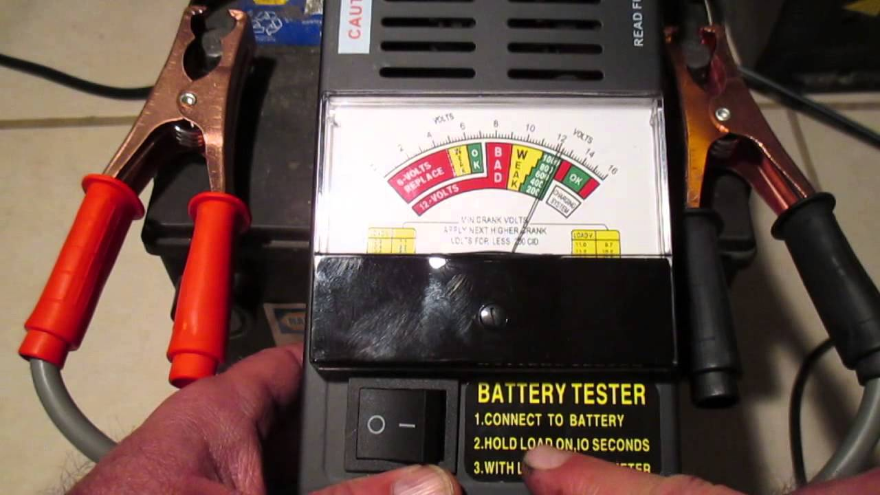 how to test a car battery youtube