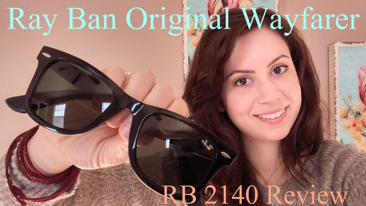 94115cf892 Ray-Ban Original Wayfarer Review    RB2140 - YouTube
