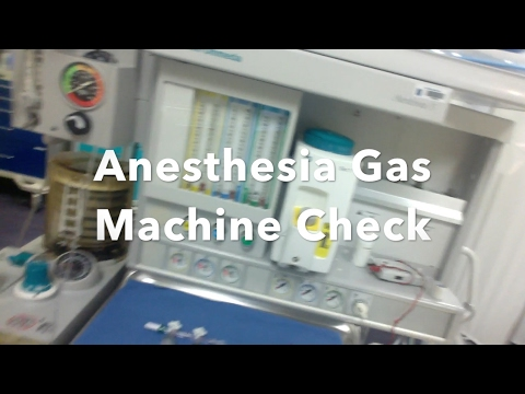 CRNA SCHOOL: Checking Anesthesia Gas Machine Check | Aishasrna