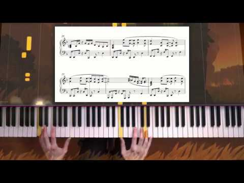 Donkey Kong Country - Scorch 'n Torch piano sheet music + Improv