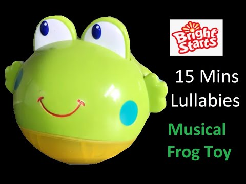 Bright Starts Musical Lullaby Frog Baby Cot Toy - 15 Minutes Calming Music