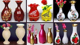 Plastic bottle flower vase // Plastic Bottle 6 Flower vase making // ফুলদানী তৈরি
