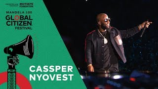 """Cassper nyovest performs """"baby girl"""" at the global citizen festival: mandela 100 on dec. 2 in johannesburg, presented and hosted by motsepe foundation. _..."""