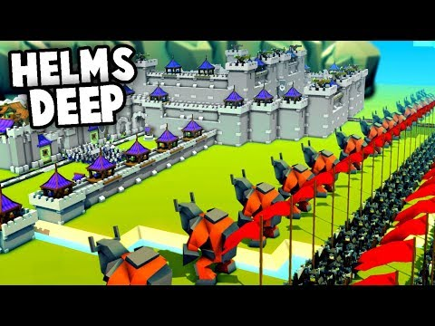 the BATTLE of HELMS DEEP - Lord of the Rings Kingdoms and Castles