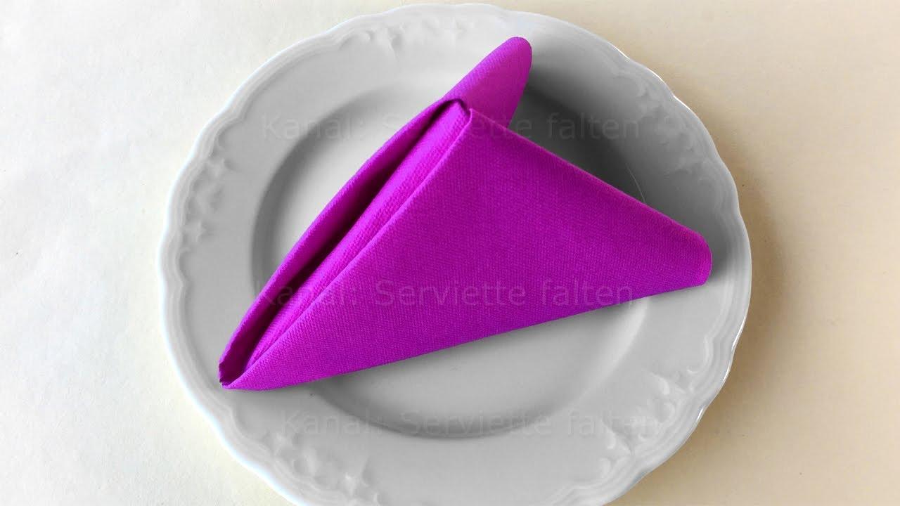 Servietten Falten Lotusblüte : servietten falten pyramide einfache diy tischdeko youtube ~ Watch28wear.com Haus und Dekorationen