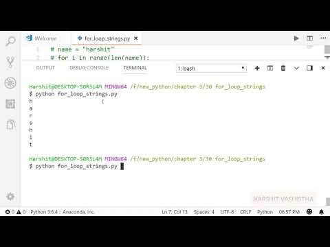 For loop and string   Python tutorial 68 thumbnail