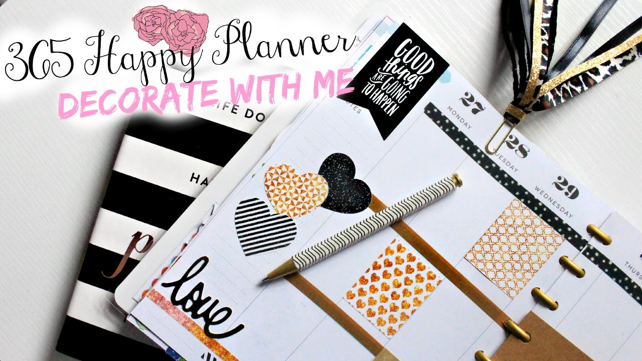 365 happy planner plan with me belinda selene youtube for Plan me