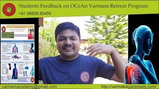 Varmam/Marma OCeAn Retreat students feedback - march 2021