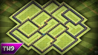 Clash Of Clans | Best Townhall 9 (th9) Anti-three Star Trophy/clan War Base!
