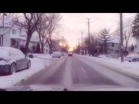 Driving around Ann Arbor, Michigan during Winter