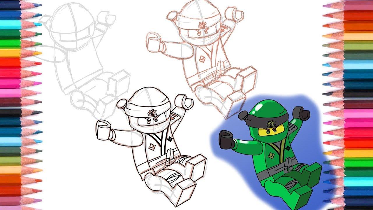 how to draw lloyd from lego ninjago sons of garmadon