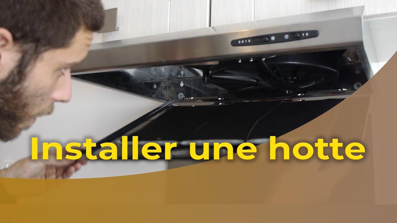 Installer Une Hotte Sur Un Meuble De Cuisine Youtube
