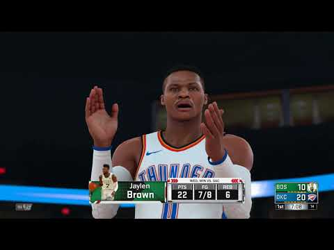 NBA 2K18 Boston Celtics vs Oklahoma City Thunder