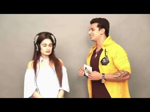 PRINCE NARULA Doing Masti with YUVIKA CHAUDHARY 😘 at Prince Narula Hello Hello Song Promotion