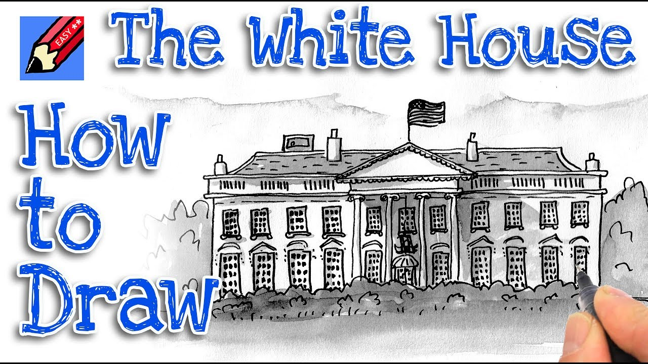 How To Draw The White House Real Easy Youtube