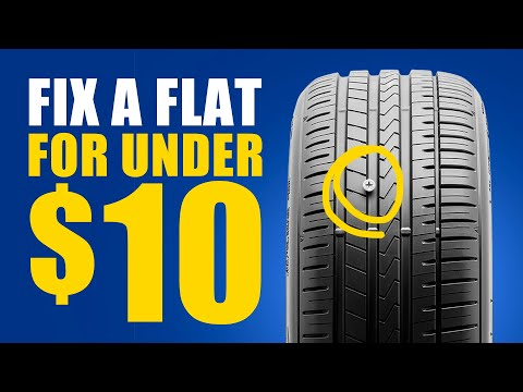 🔥Fix a flat tire for less than $10 | Tire Repair Kit | DIY Tips & Tricks