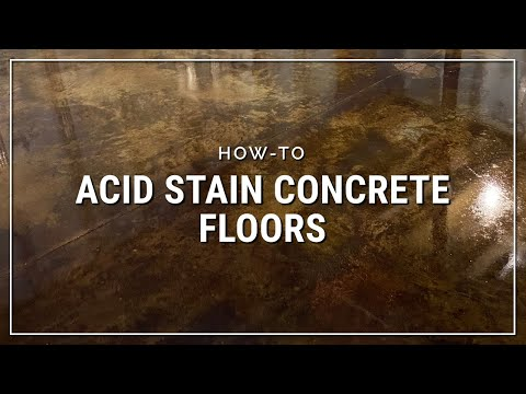 Direct Colors Concrete Acid Stain How To Stain A Garage Floor Youtube