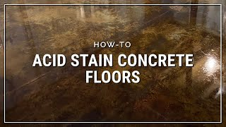Direct Colors Concrete Acid Stain | How-to Stain a Garage Floor