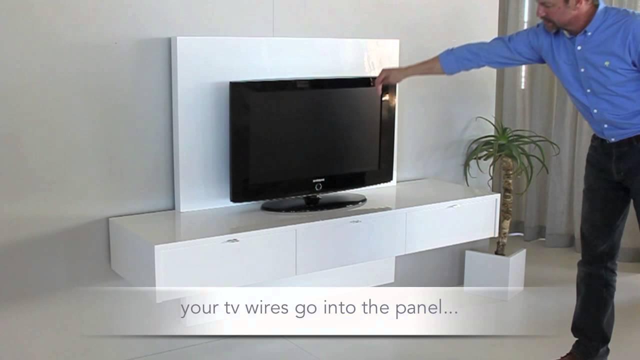 ODE2U Floating tv unit fsf18tvp12 1  YouTube