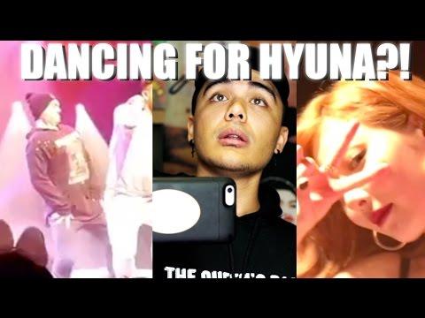 DANCING FOR HYUNA?  HYUNA TOUR EXPERIENCE