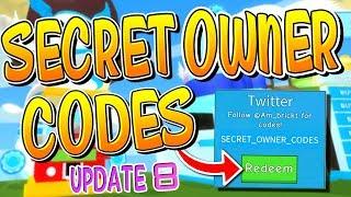 SECRET OWNER CODES ROBLOX ICECREAM SIMULATOR UPDATE 8!!
