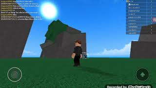 Playing dra gonball in roblox :0
