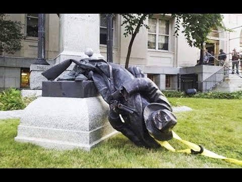 Confederate Statue Smashed By Protesters (VIDEO)