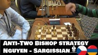 Restricting two bishops in Nimzo-Indian defense | Nguyen - Sargissian