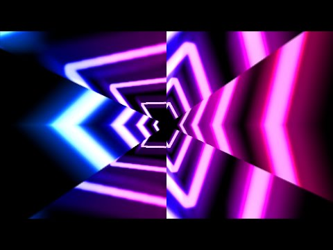 Ten Minutes Long - Pink and Blue Video Background | Wave Effect Loops
