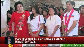 How much has PCGG recovered from Marcos?