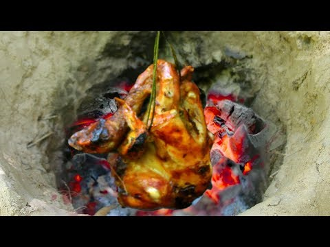 Primitive Cooking Roster Chicken Using  Underground by Wilderness Life
