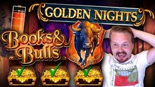 "BIG WIN on Books & Bulls ""Golden Nights"" Feature! (Golden Nights total bet is €1, rest regular slot)"