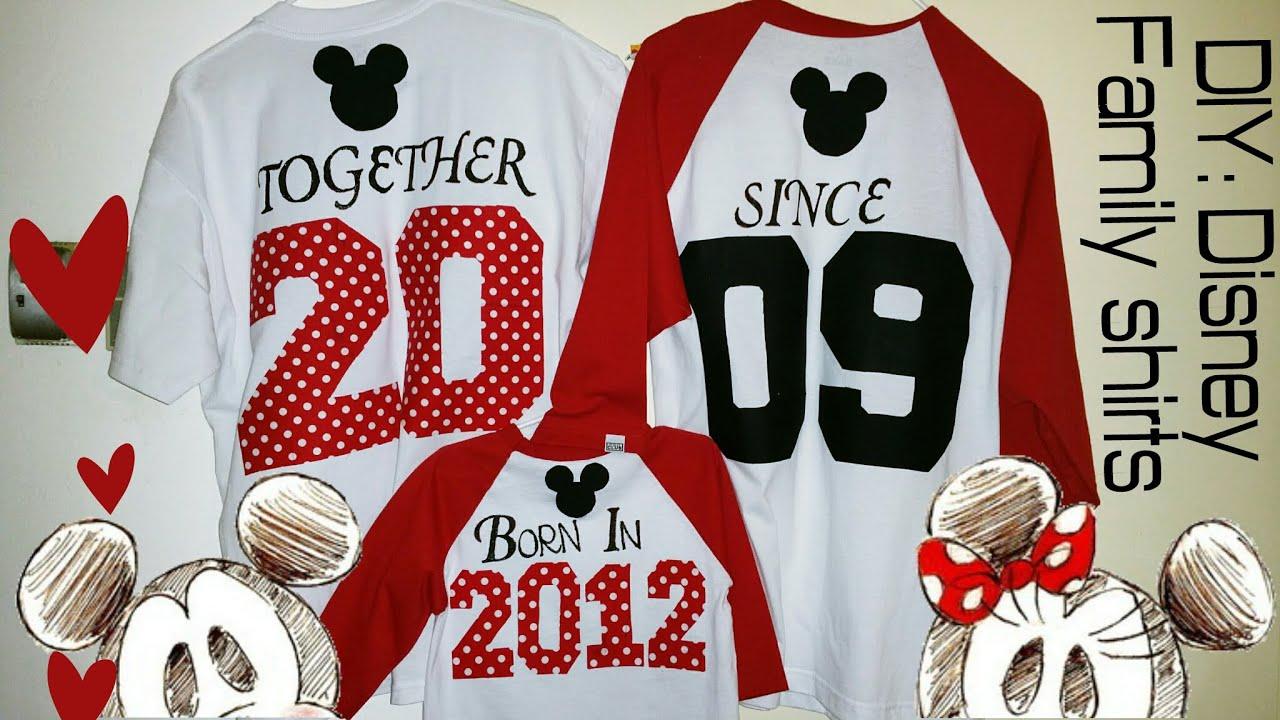DIY Minne&Mickey   Family Matching Shirts - YouTube