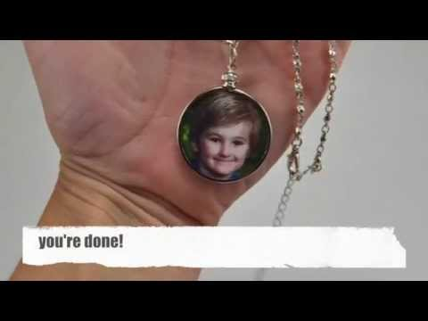 DIY Double Sided Photo Pendant Necklace