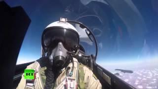 Минобороны показало работу российской авиации в Сирии(Министерство обороны РФ в своем аккаунте на YouTube опубликовало видео, в котором показаны вылеты авиации..., 2015-10-22T10:43:47.000Z)