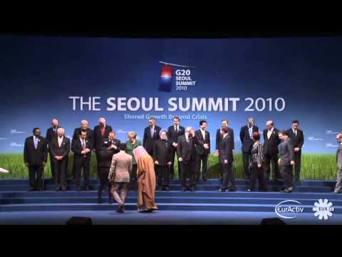 G20 group photo in Seoul - Nov. 2010 (raw video)