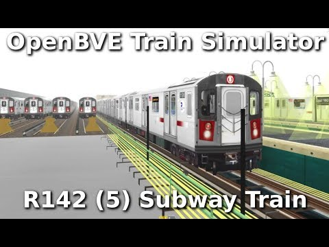 OpenBVE ►5 Train to 149th Street Grand Concourse◀ (R142)