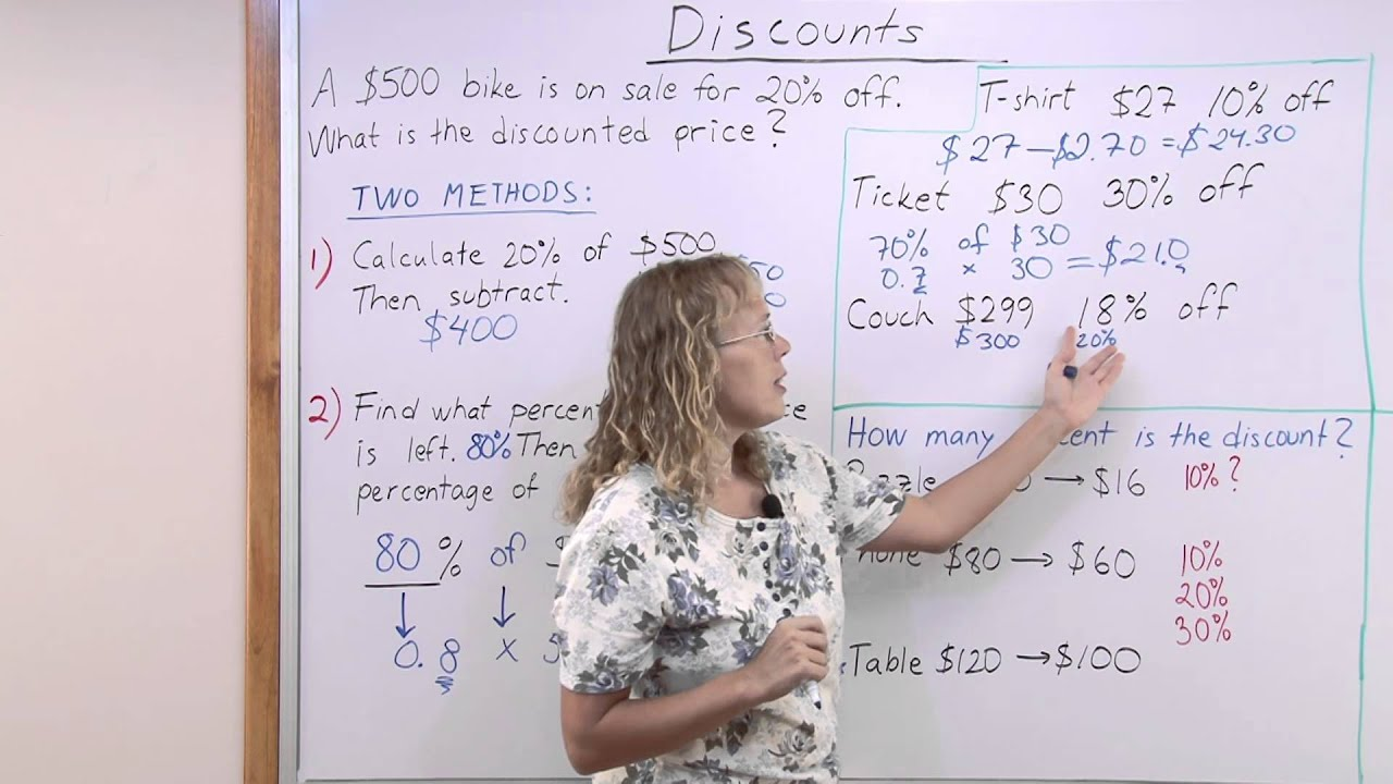 How to calculate discounts - YouTube