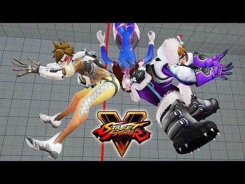 Street Fighter 5 - Mei vs D.Va (Overwatch) Gameplay PC Mods @ 1080p (60fps) HD ✔
