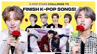Can Kpop Group finish the lyrics of BTS, EXO, OH MY GIRL, SVT & NCT? l FLC l JUST B
